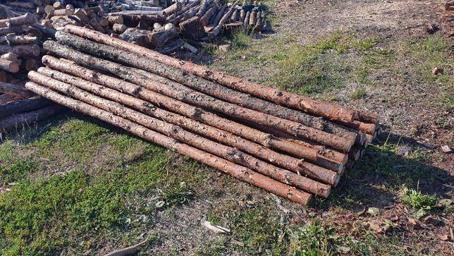 Stemple budowlane kołki płot drewno budowa ogrodzenie tymczasowe