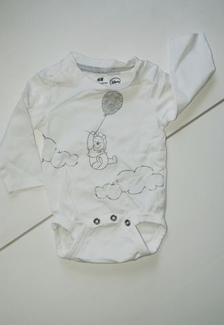 Боди H&M длинный рукав для новорождённого р. 56 см