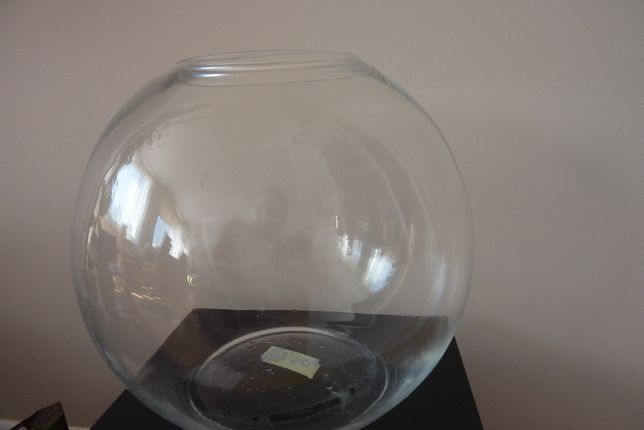 szklana duża kula terrarium