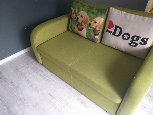 BRW Sofa Kanapa rozkładana łóżko po profesjonalnym czyszczeniu