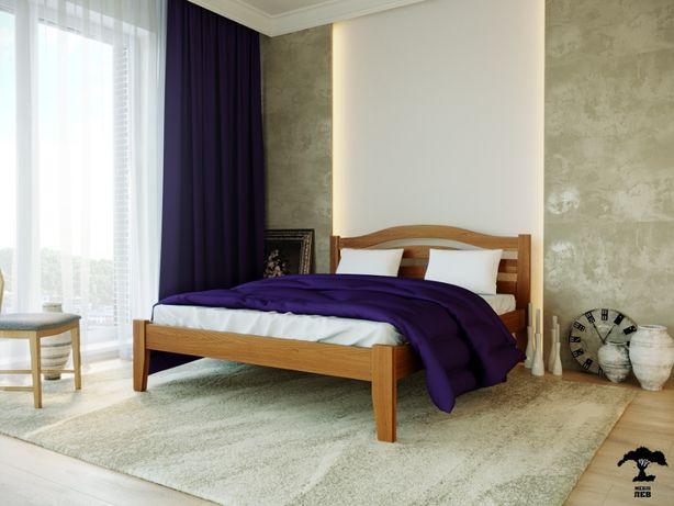 Ліжко дерев'яне Афіна Нова з масиву бука