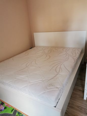 łóżko malm ikea 160x200 + materac jysk