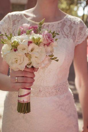 Свадебное платье на рост 180 см, размер условно М