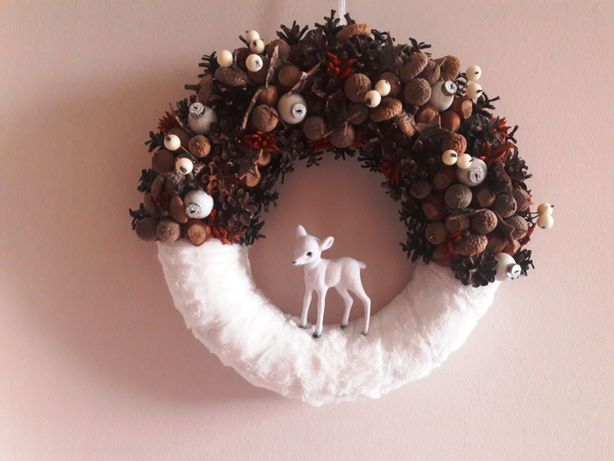 Wianek świąteczny Boże Narodzenie dekoracja domu