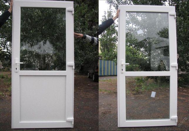 Drzwi PCV 90 X 200 białe sklepowe LUBLIN