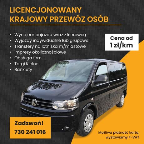 Licencjonowany przewóz osób BUS TAXI wynajem od 1 zł/km