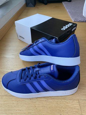 Buty adidas B75697 niebieskie adidasy 38 2/3 nowe oryginalne VL court