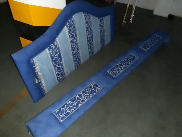 Cabeceira cama ou soumier e sanefa cortinados