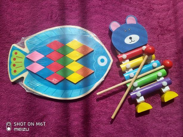 Дерев'яна іграшка Рибка, ксилофон дитячий, дерев'яні іграшки