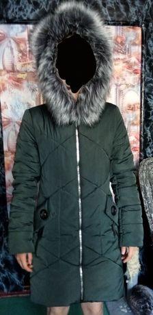 женская зимняя куртка б/у