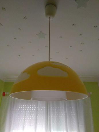 Candeeiro de teto IKEA SKOJIG, amarelo, de criança - novo preço