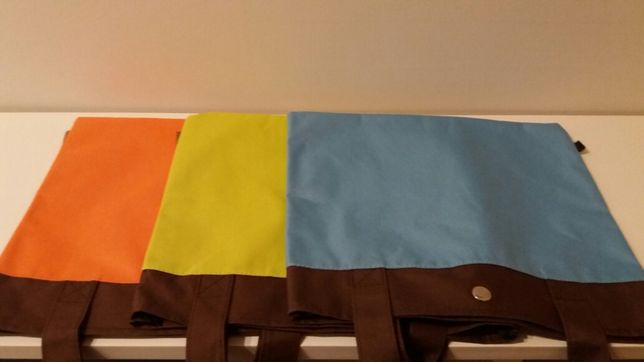 Conjunto de 3 malas coloridas