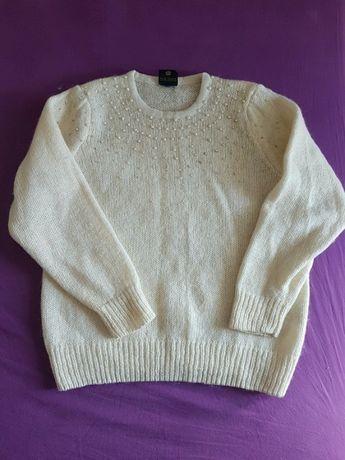 Sweterek z perełkami, M, C&A