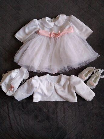Ubranie do chrztu dla dziewczynki 68