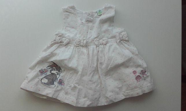 Sukienka niemowlęca w różowe kropeczki 3-6 msc