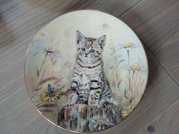 Talerz ozdobny Tiger's Fancy kot kotek