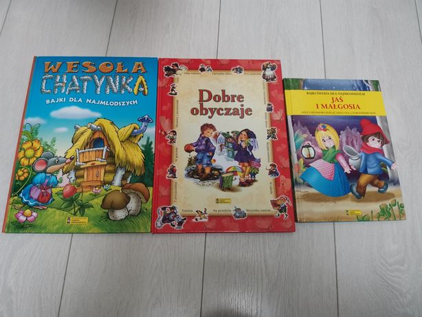 Książki bajki dla dzieci Jaś i Małgosia wilk i 7 koźląt