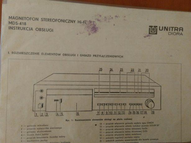 Instrukcje obsługi UNITRA oryginalne