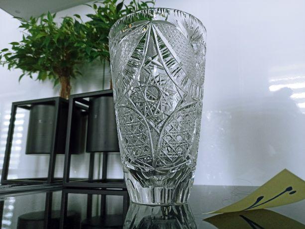 Wazon szklany nowy krysztal kwiaty ozdoba