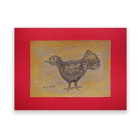 rysunek rustyklany do domu,grafika z rysunkiem ptaszka,ptak obrazek ła