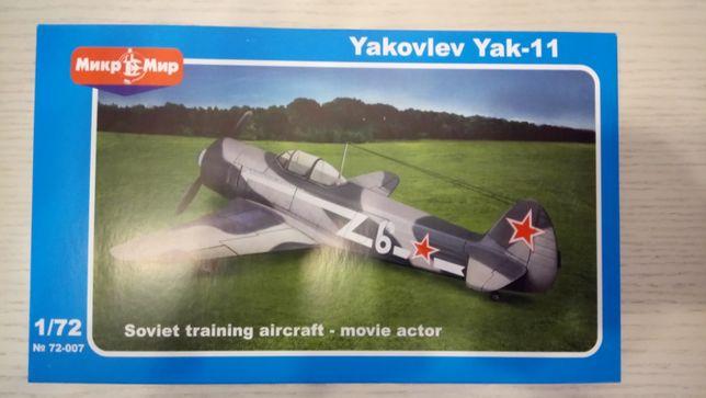 Сборная модель Самолет Як-11 (одноместный)