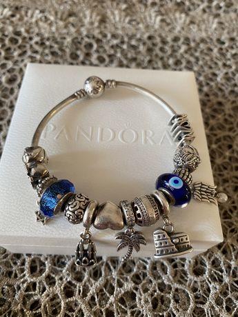 Pandora браслет и 14 бусинок