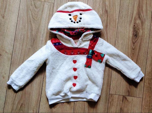 Свитерок Снеговик на 3-4 года на новый год Новогодний свитер