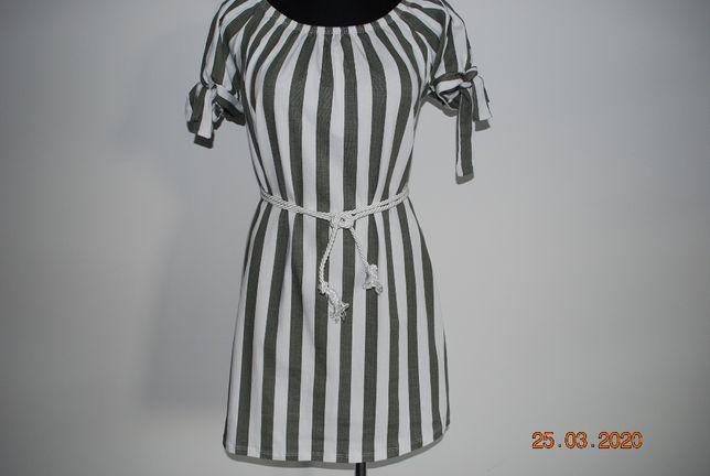 sukienka w paski bawełna 36 38 40