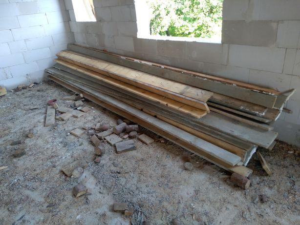 Sprzedam deski budowlane szalunkowe używane