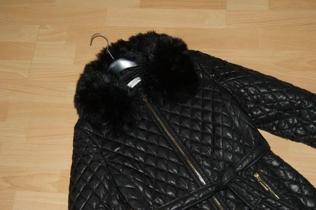 płaszcz damski lakierowany 40 42 pikowany