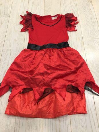 Halloween strój przebranie karnawałowe czarownica królowa ognia