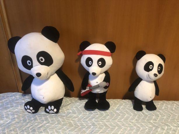 Conjunto de 3 Pandas Peluche originais
