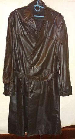 Мужская куртка кожаная черная (искусственная кожа).