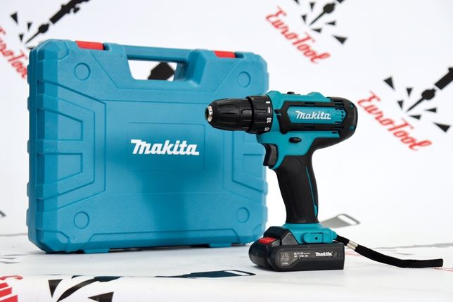 Шуруповерт Makita DF331DWE (18V, 2AH) Макита с набором бит в кейсе