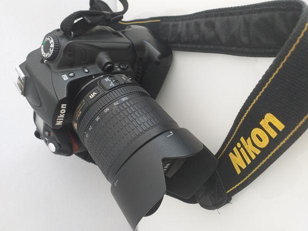 NIKON D90 z gripem + 18-105+filtr polar