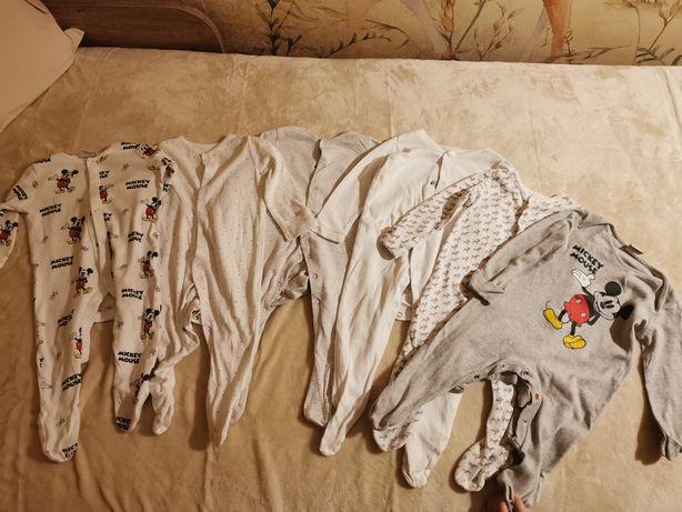 Piżamki, pajace 6-9 miesięcy 6 sztuk