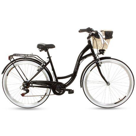 """NOWY rower miejski/damski Goezte Mood 28"""" 6-biegowy (CZARNY) SKLEP"""