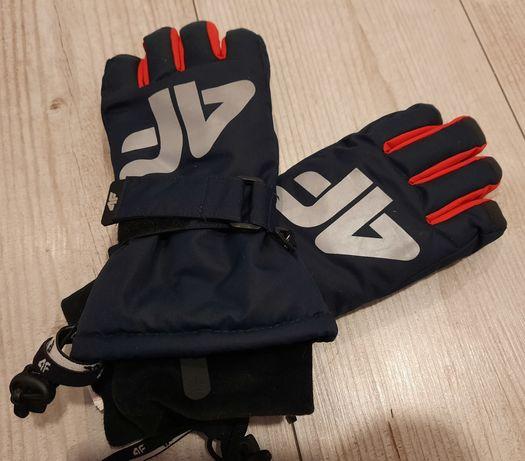 J.nowe rękawiczki narciarskie dla chłopca marki 4F r.L 158cm