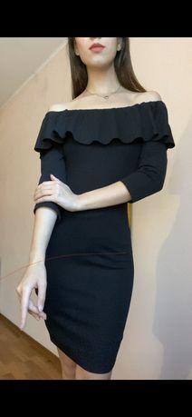 Zara Вечерне-повседневное черное платье футляр  s-m