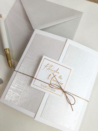 EKSKLUZYWNE i NOWOCZESNE zaproszenia ślubne, ręcznie zdobione