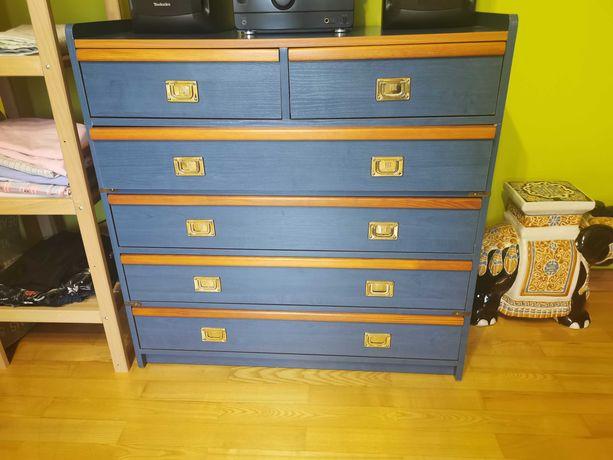 Meble regał z szufladami plus biurko