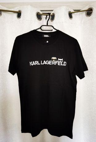Koszulka Karl Lagerfeld Czarna Nadruk 3D od Laurente Outfit