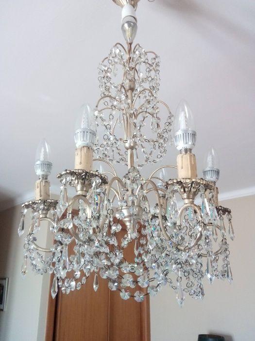 Elegante candeeiro de quarto em cristal