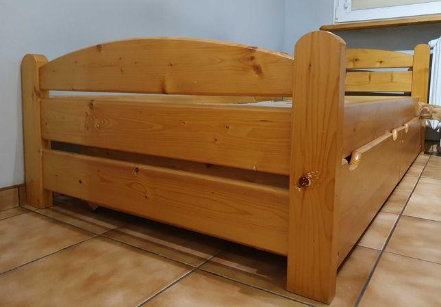 Łóżko sosnowe 90x200 cm + 2 szuflady
