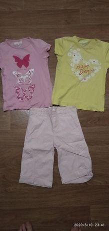 Продам комплект на девочку (2 футболки и бриджи)