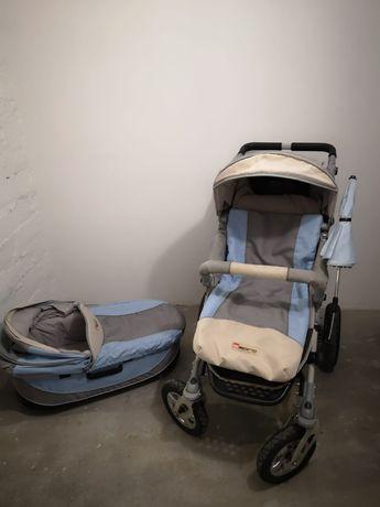 Wózek dziecięcy atlantic 2w1 pompka godola torba stan bdb
