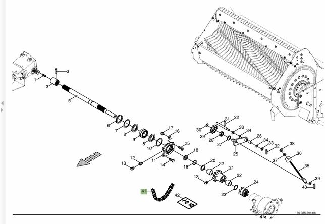 Łańcuch Rotora Krone AX, Titan, XXL Orginał