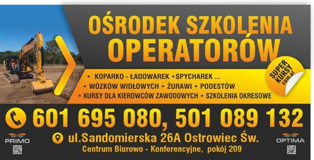 Kursy operatorów koparek, ładowarek,itp - Promocja cenowa