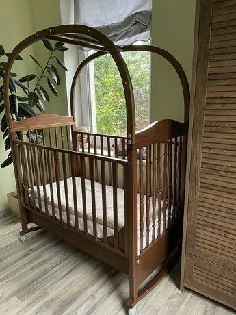 Детская кроватка Piccolino Italy Натуральное дерево. Матрас, ящик для