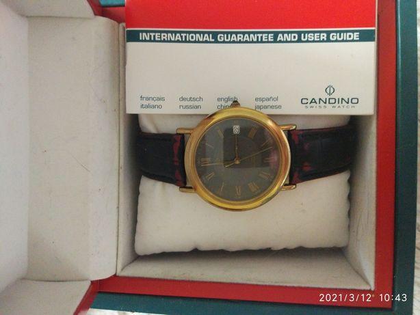 Часы мужские candino золото Швейцария механика автозавод оригинал